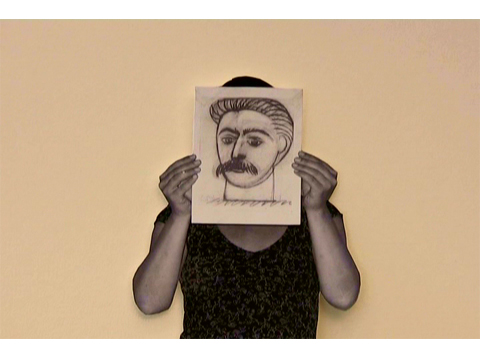 Stalin by Picasso / Portrait of Woman with Moustache