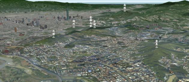 由南港山系:內埔山、福州山、富陽公園、中埔山,連結形成臺北市城南綠廊