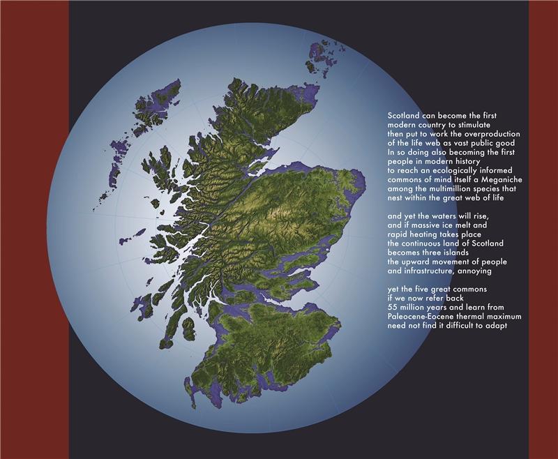 海倫.哈里森 & 牛頓.哈里森,《綜觀蘇格蘭的深層國富》,2018,乙烯基印刷,221×259公分