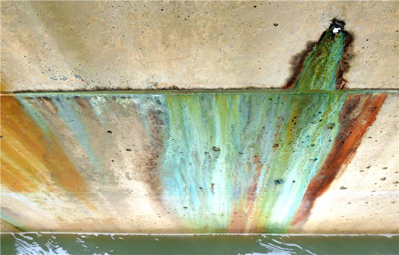 晁瑞光,《幽靈的池塘》,2015,攝影。 桃園滲眉埤,全國最毒埤塘,120公頃農田灌溉水,卻長期被偷排放有毒廢棄物,特產為綠色福壽螺。
