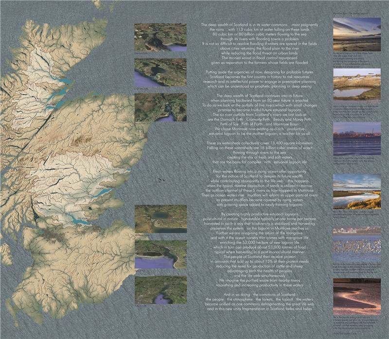 海倫.哈里森 & 牛頓.哈里森,《綜觀蘇格蘭的深層國富》,2018,乙烯基印刷,221×244公分
